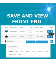 Save and View Front End